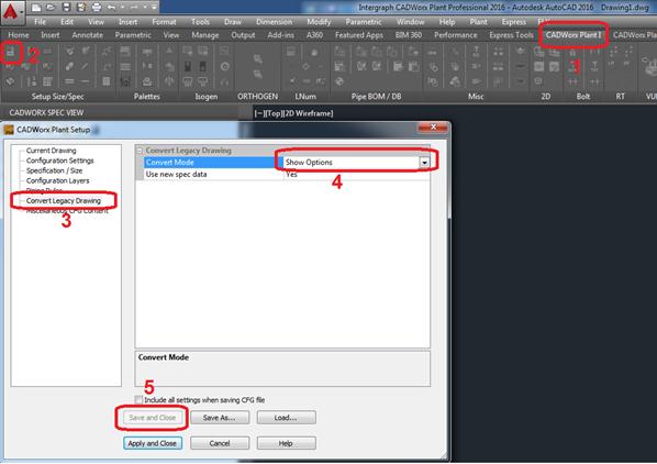 ImageGrafix Software FZCO - Convert Legacy Drawing Settings Step1